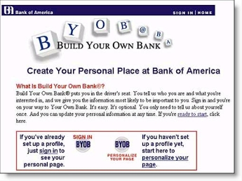 1999 screenshot from BofA CLICK TO ENLARGE