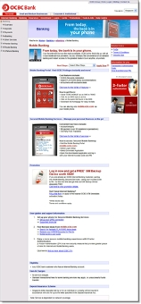 OCBC Singapore main mobile banking info page CLICK TO ENLARGE