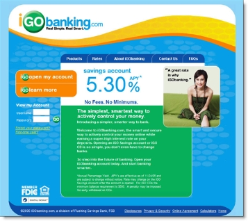 Flushing Financial's iGoBanking CLICK TO ENLARGE