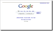 Google homepage CLICK TO ENLARGE