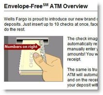 Wells Fargo explanation of remote ATM deposit capture