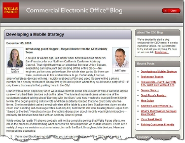 Wells Fargo CEO blog CLICK TO ENLARGE