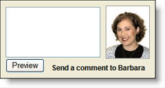 Comment input box at Wells Fargo blog, Student LoanDown