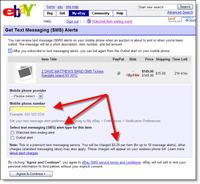 Ebay_sms_alert